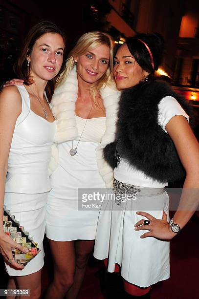 Models Nathalie White Sarah Marshall and tenniswoman Charlene Vanneste attend the Mumm's Princesses Dinner Party at the Castel Club on September 16...