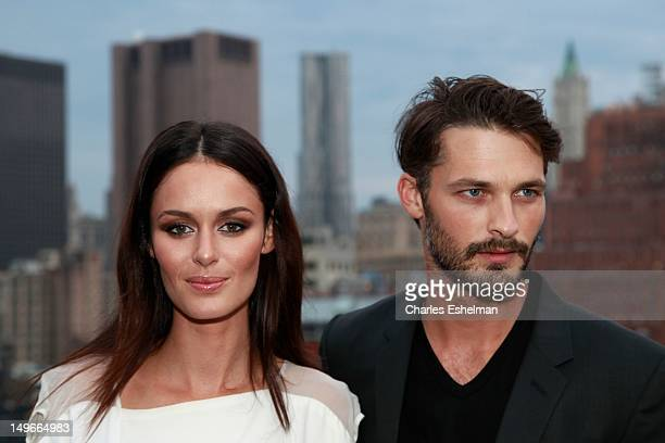 Models Nicole Trunfio and Ben Hill attend the David Yurman Fall 2012 annual rooftop soiree at David Yurman Rooftop on August 1 2012 in New York City