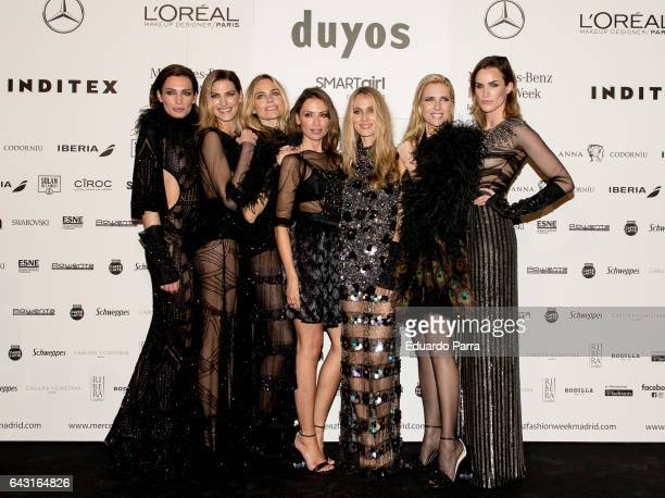 Models Nieves Alvarez Laura Sanchez Veronica Blume Almudena Fernandez Vanesa Lorenzo Judith Masco and Helena Barquilla are seen at kissing room after...