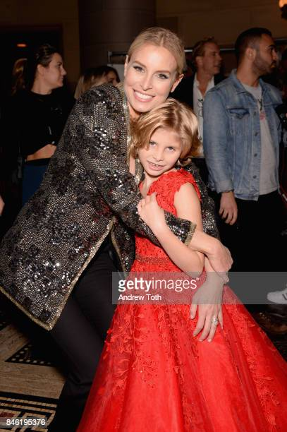 Models Niki Taylor and Ciel Taylor pose backstage at the Sherri Hill NYFW SS18 fashion show at Gotham Hall on September 12 2017 in New York City