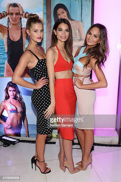 Models Nina Agdal Lily Aldridge and Chrissy Teigen attend Club SI Swimsuit at LIV Nightclub hosted by Sports Illustrated at Fontainebleau Miami on...