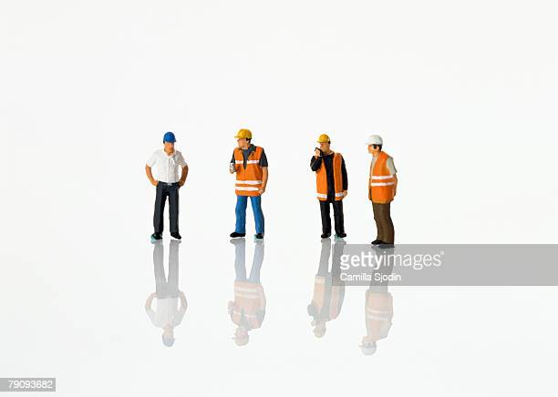 Models of construction workers.