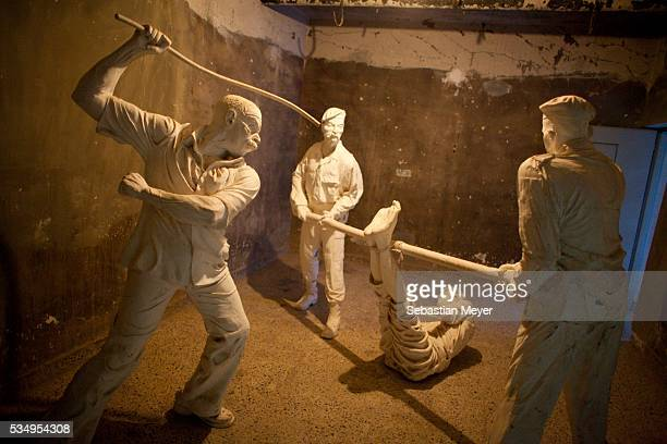 Models of Iraqi policeman beating a Kurd in the Amna Souraka torture museum The Amna Souraka was used as a prison and torture chamber by Saddam's...