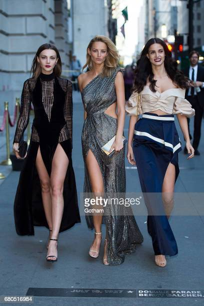 Models Olesya Skaya Michaela Kocianova and Sofia Resing is seen in Tribeca on May 8 2017 in New York City