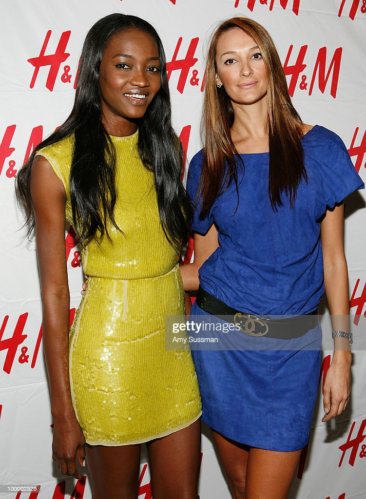 Models Oluchi (L) and Danijela Lazarevic attend H&M's launch of Fashion Against AIDS at H&M Fifth Avenue on May 19, 2010 in New York City.