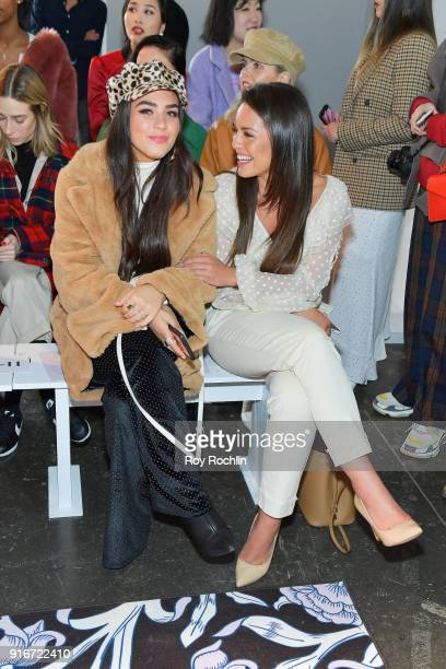 Models Olympia Valance and Cartia Mallan attend the alice McCALL fashion show during New York Fashion Week The Shows at Industria Studios on February...