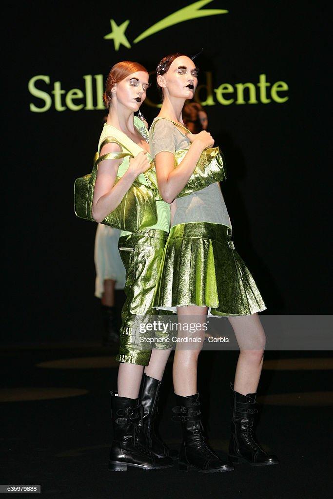 Models on the catwalk at the 'Stella Cadente ready-to-wear Spring-Summer 2006 collection' fashion show.