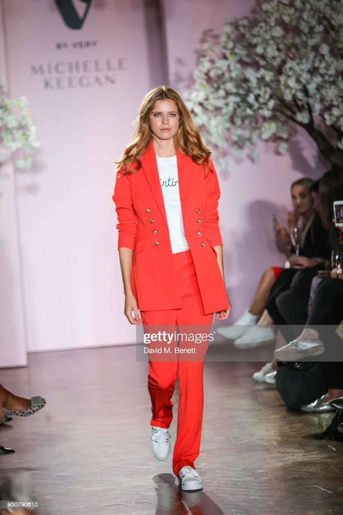 Models on the catwalk during Keegan's first show for Very.co.uk at One Marylebone on April 24, 2018 in London, England.
