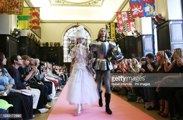 Models on the catwalk during Ryan Lo show London Fashion Week September 2018 at Stationers Hall PRESS ASSOCIATION Picture date Friday September 14...