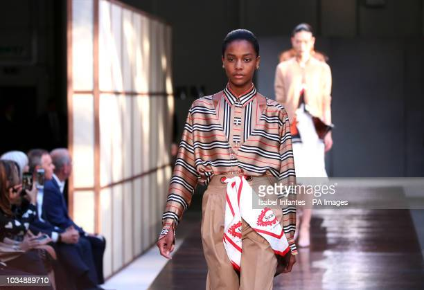Models on the catwalk during the Burberry London Fashion Week SS19 show held at The South London Mail Centre PRESS ASSOCIATION Photo Picture date...