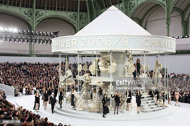 Models on the catwalk during the Chanel fall/winter 20082009 fashion show in Paris
