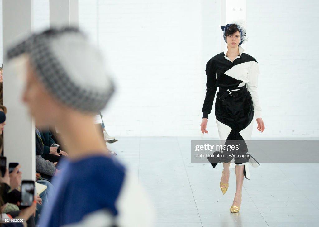 Fashion East Catwalk - London Fashion Week February 2018 : News Photo