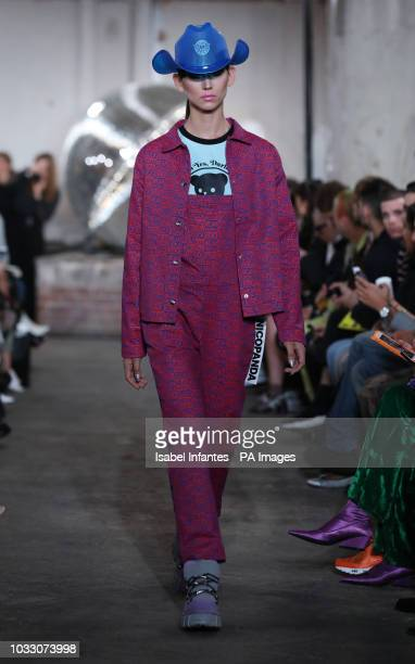 Models on the catwalk during the NICOPANDA during London Fashion Week September 2018. PRESS ASSOCIATION. Picture date: Friday September 14, 2018....