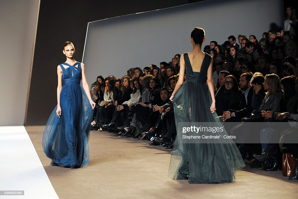 Models on the runway at at the Elie Saab Ready To Wear show, as part of the Paris Fashion Week Fall/Winter 2010-2011.