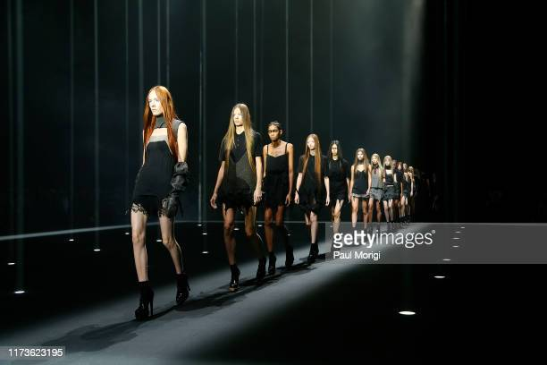 Models on the runway at Vera Wang during New York Fashion Week on September 10, 2019 in New York City.