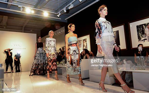 Models on the runway during the exclusive IWC 'Timeless Portofino' Ladies Only Fashion Dinner hosted by IWC CEO Georges Kern and Brand Director...