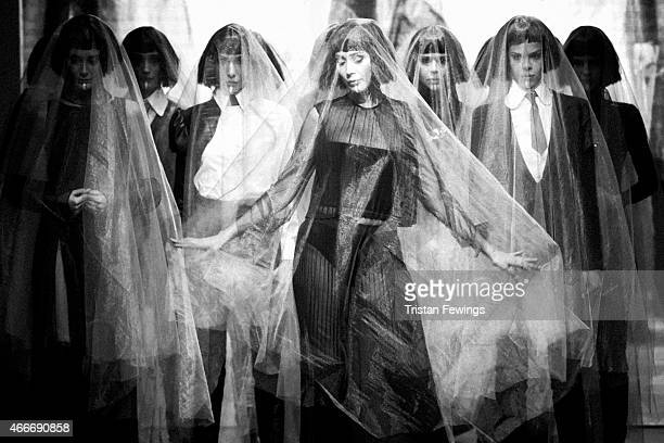 Models on the runway during the Selma State show during Mercedes Benz Fashion Week Istanbul FW15 on March 18 2015 in Istanbul Turkey