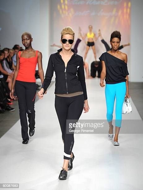 Models on the runway wearing Vata Brasil's Spring 2010 Collection at 1030 King St W on October 20 2009 in Toronto Canada