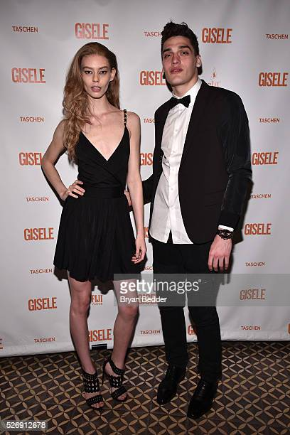 Models Ondria Hardin and Dillon Storey attend the Gisele Bundchen Spring Fling book launch on April 30 2016 in New York City