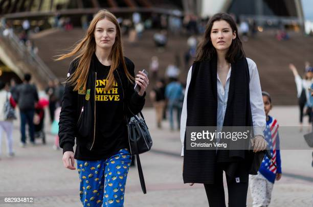 Models outside Dion Lee during MercedesBenz Fashion Week Resort 18 Collections at Sydney Opera House on May 14 2017 in Sydney Australia