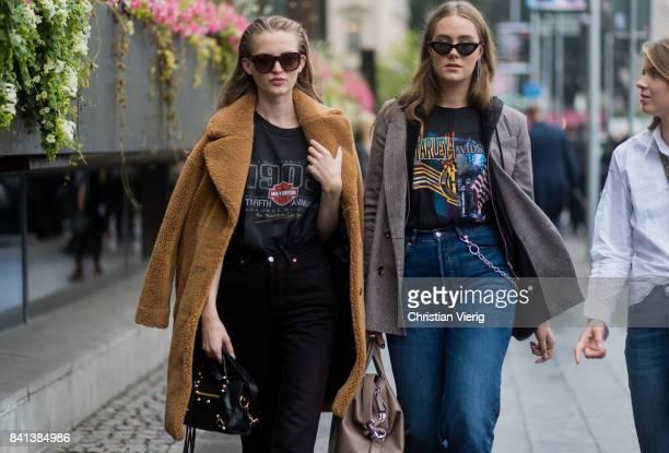 Models outside Valerie on August 31 2017 in Stockholm Sweden