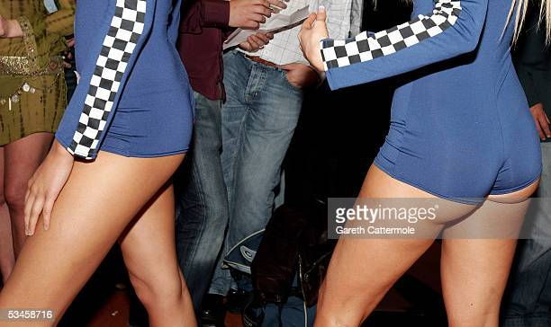 Models participate in the catwalk show for the Gridmodels 2006 Calendar Catwalk Competition at The Penthouse on August 24 2005 in London England The...