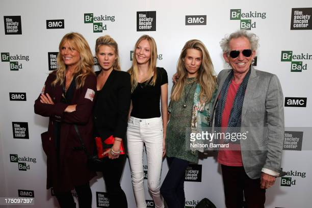 Models Patti Hansen Alexandra Richards Ella Richards Theodora Richards and musician Keith Richards attend The Film Society of Lincoln Center and AMC...