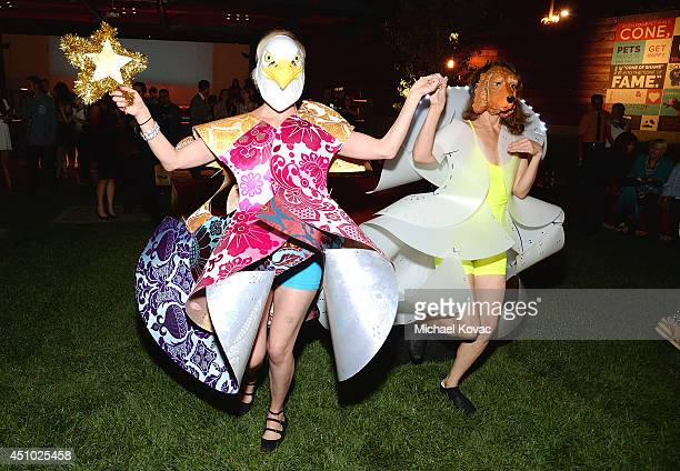 Models perform at the 'More Than a Cone' art auction and campaign launch benefiting Best Friends Animal Society in Los Angeles where renowned artists...