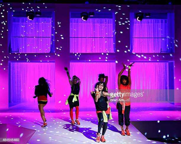 Models perform during the Athleta  Runway show during MercedesBenz Fashion Week Spring 2015 at SIR Stage on September 3 2014 in New York City