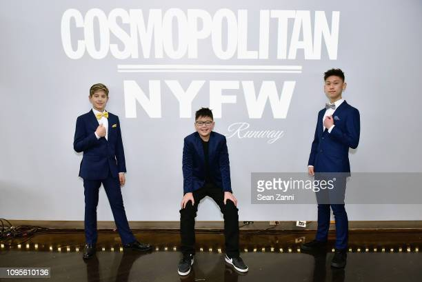 Models pose at Cosmopolitan NYFW on February 8 2019 in New York City