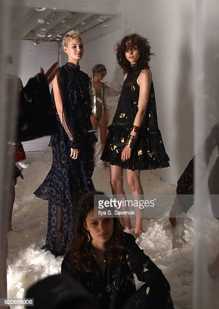 Models pose at Cynthia Rowley Presentation during New York Fashion Week The Shows on September 8 2016 in New York City