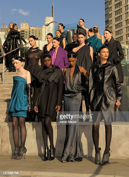 Models pose at the 2010 CFDA Fashion Awards at Alice Tully Hall, Lincoln Center on June 7, 2010 in New York City.
