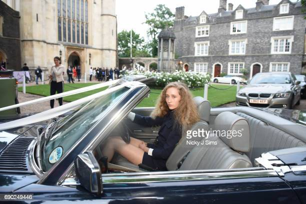 Models pose at the ALEXACHUNG London Launch and Collection Reveal on May 30 2017 in London England