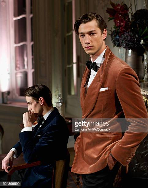 Models pose at the dunhill presentation during The London Collections Men AW16 on January 10 2016 in London England