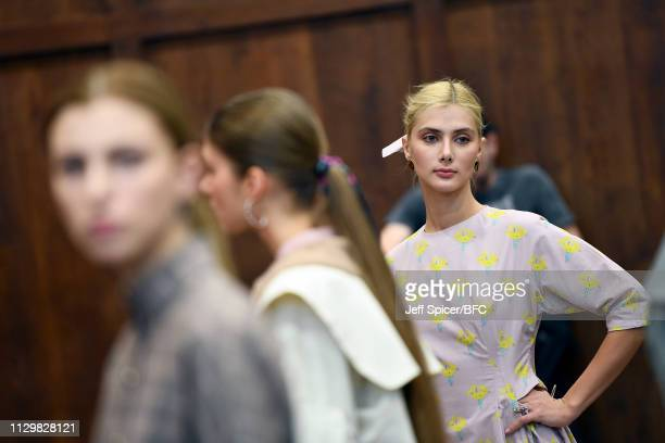 Models pose at the Gayeon Lee Presentation during London Fashion Week February 2019 on February 15 2019 in London England