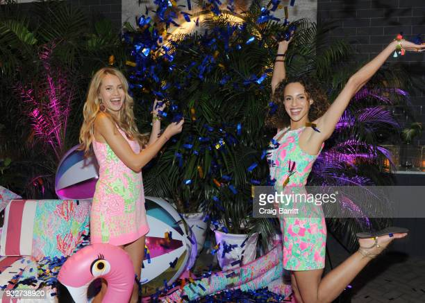 Models pose at the Launch Celebration of the Pottery Barn Pottery Barn Kids PBteen and Lilly Pulitzer Exclusive Collection on March 15 2018 in New...