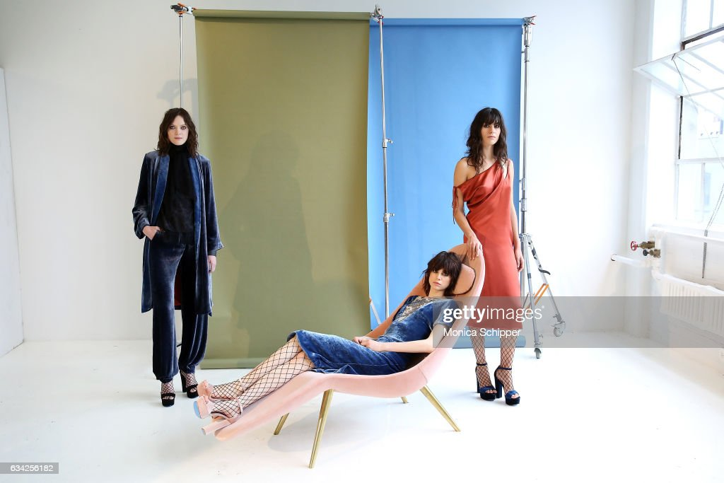 Models pose at the Roumel 6 Presentation during February 2017 New York Fashion Week at Drift Studios on February 8, 2017 in New York City.