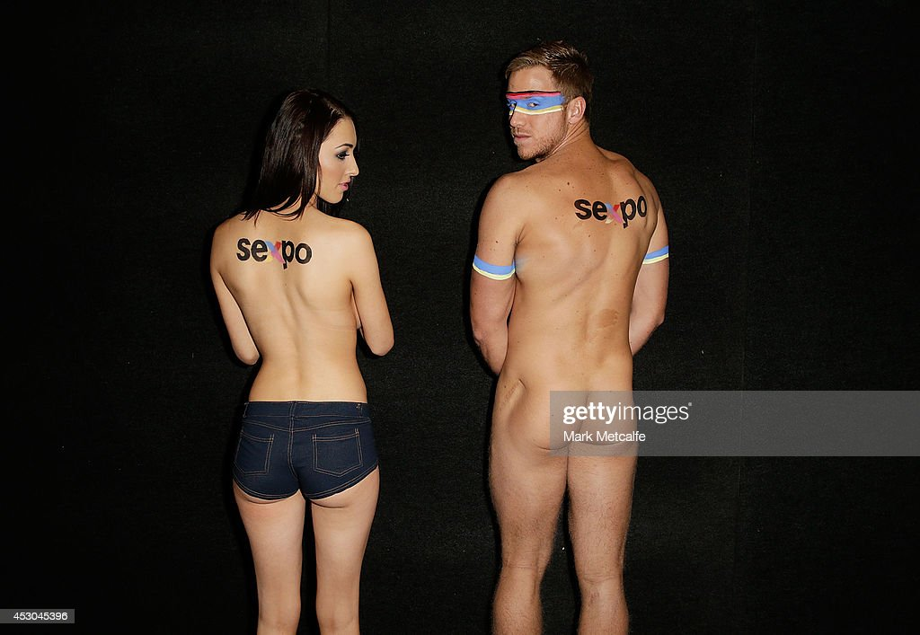 Models pose at the Sexpo 2014 Launch at Hordern Pavilion on August 1, 2014 in Sydney, Australia.