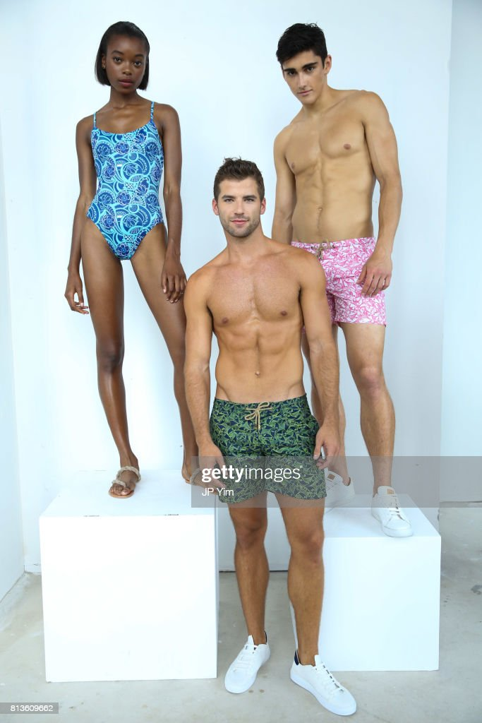 d228e8c8dc98 Models pose at the Thorsun Men s and Women s Spring Summer 2018 ...
