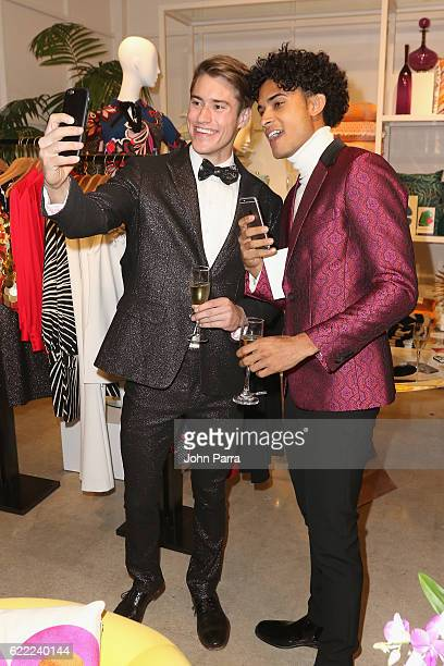 Models pose at the Trina Turk and Mr Turk Miami Boutique Grand Opening at Trina Turk and Mr Turk Boutique on November 10 2016 in Miami Florida