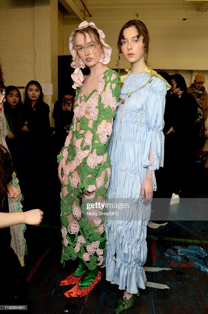 GBR: Fashion East - Backstage - LFW February 2019