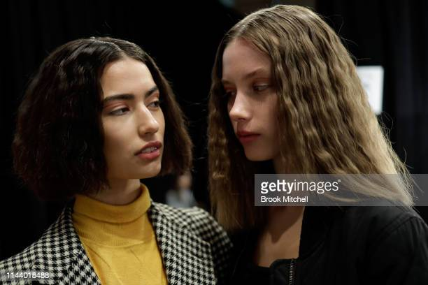Models pose backstage ahead of the StGeorge NextGen show at MercedesBenz Fashion Week Resort 20 Collections at Carriageworks on May 16 2019 in Sydney...
