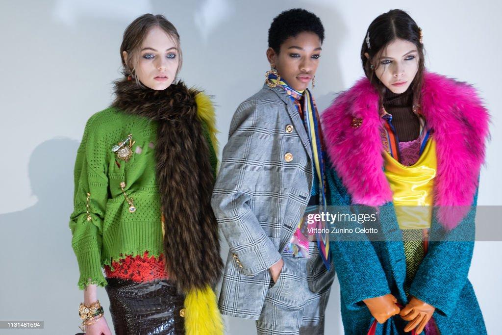 Versace - Backstage: Milan Fashion Week Autumn/Winter 2019/20 : ニュース写真