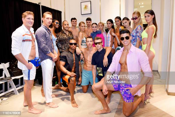 Models pose backstage at Miami Swim Week Powered By Art Hearts Fashion Swim/Resort 2019/20 at Saks Fifth Avenue Brickell City Centre on July 16, 2019...