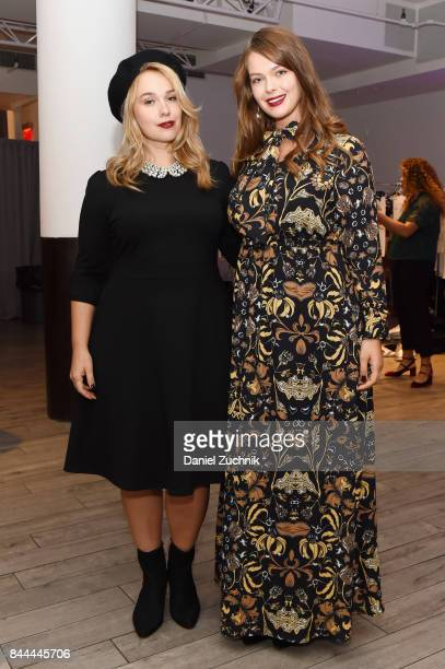 Models pose backstage during the DiaCo fashion show and industry panel at the CURVYcon at Metropolitan Pavilion West on September 8 2017 in New York...