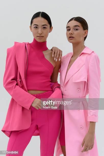 Models pose backstage for Alice + Olivia By Stacey Bendet Presentation during September 2019 - New York Fashion Week: The Shows on September 09, 2019...