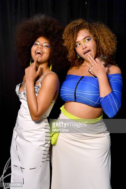 Models pose backstage for Chromat Spring/Summer 2020 during New York Fashion Week The Shows at Gallery I at Spring Studios on September 07 2019 in...