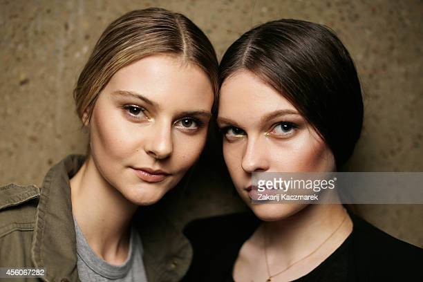 Models pose backstage for the Fashion Bloggers on Style Spring Edits show during MercedesBenz Fashion Festival Sydney at Sydney Town Hall on...