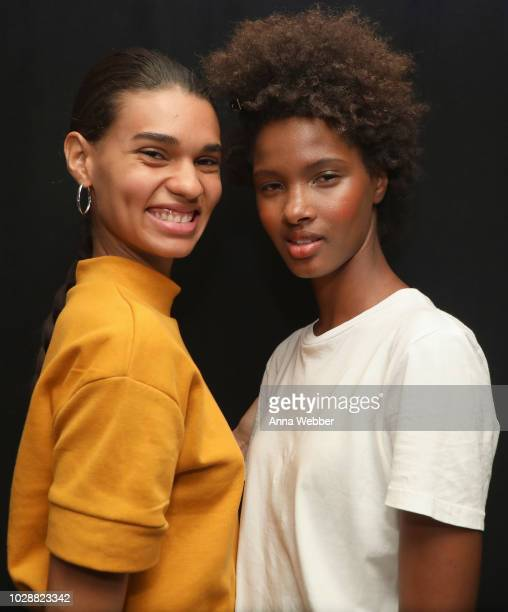 Models pose backstage for TRESemme At Cushnie during New York Fashion Week on September 7 2018 in New York City