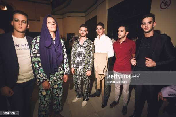 Models pose backstage of the catwalk Code 41 Trending Day on September 29 2017 in Seville Spain